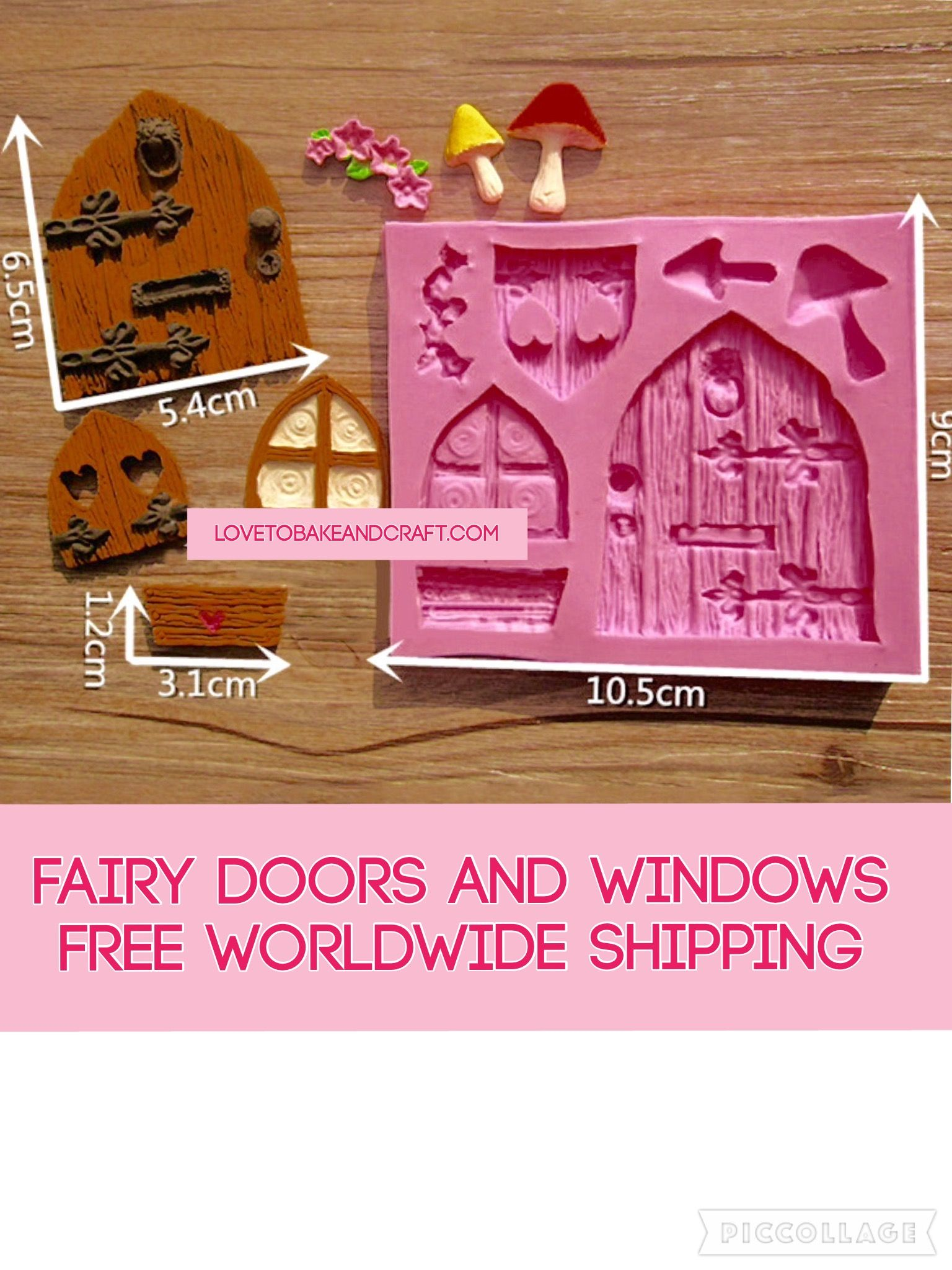 ... window Fairy door fairy window fairy house fairy mould door mold ...  sc 1 st  Silicone molds Polymer clay mold fimo mold sculpey mold Cake : door mould - Pezcame.Com
